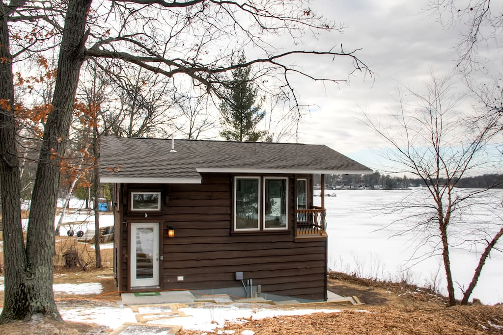 Serene 1br brainerd lakefront cabin cabins for rent in for Cabins for rent in minnesota