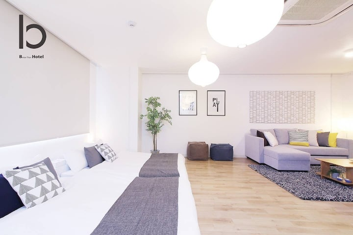 bHOTEL401  2BR Apt for 10ppl near Hondori Shopping