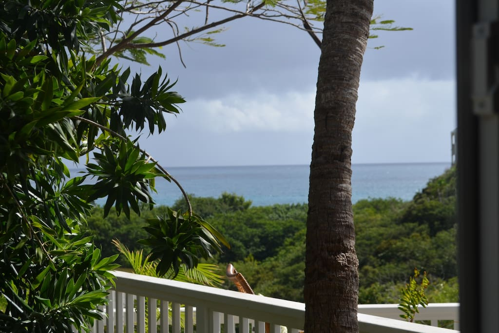 Caribbean view from the kitchen windows