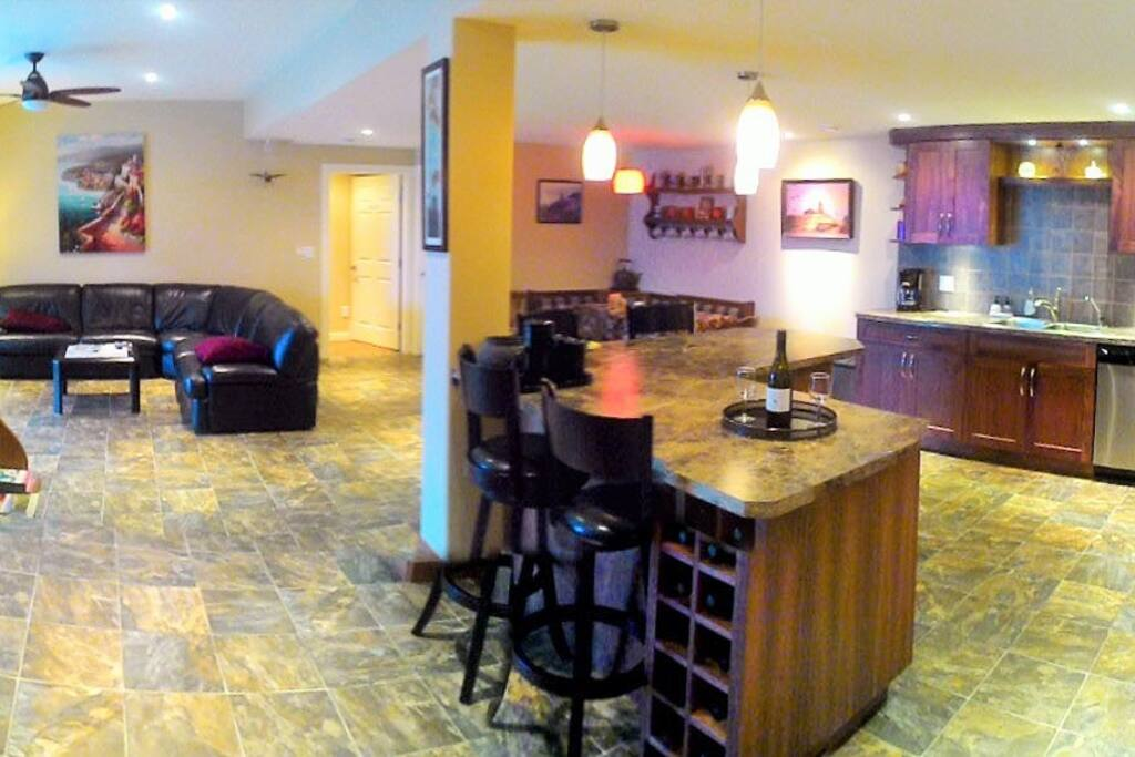 View of B&B bar and sitting area