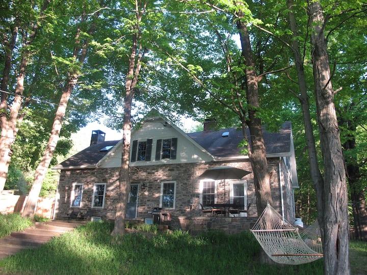 1796 Stone Farmhouse on 15 Beautiful Acres