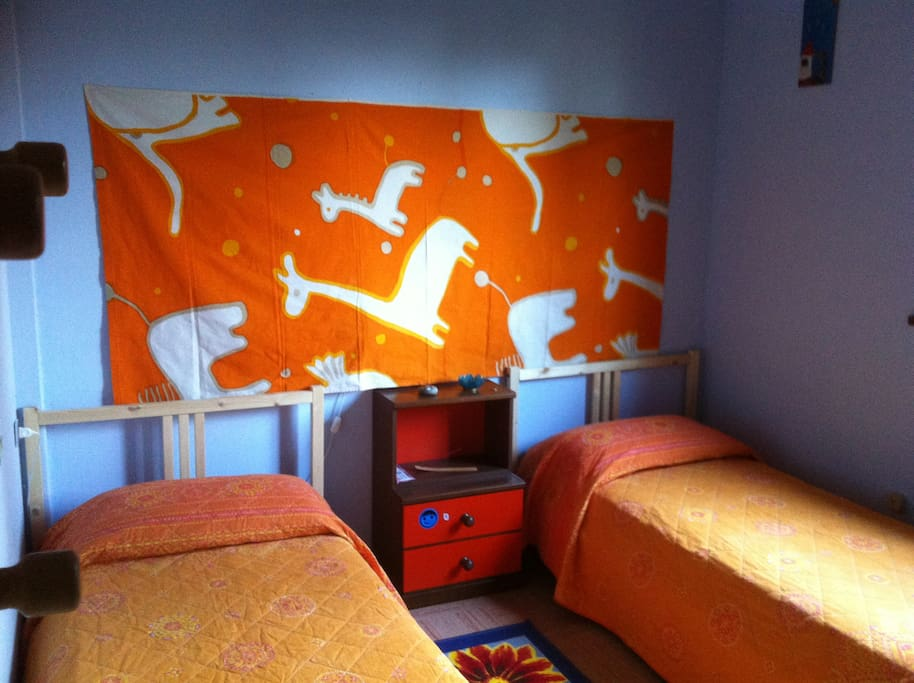 The room with twin beds