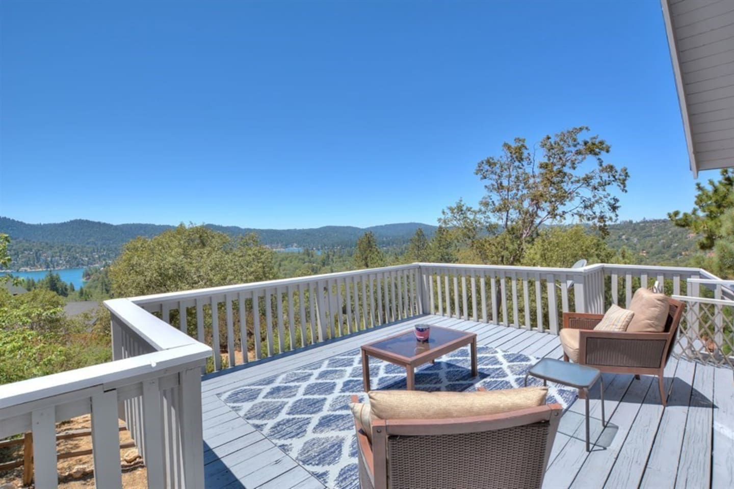 View of Lake Arrowhead from front patio