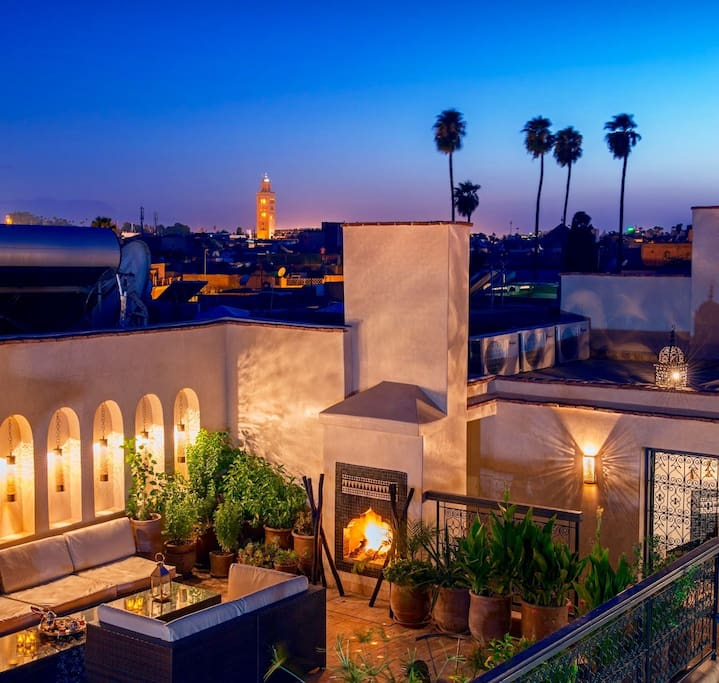 Some riad hotels have lovely views-all are lovely.