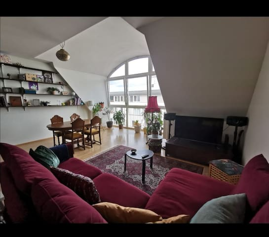 Room in 110m2 Apartment with Terrasse and Bikes