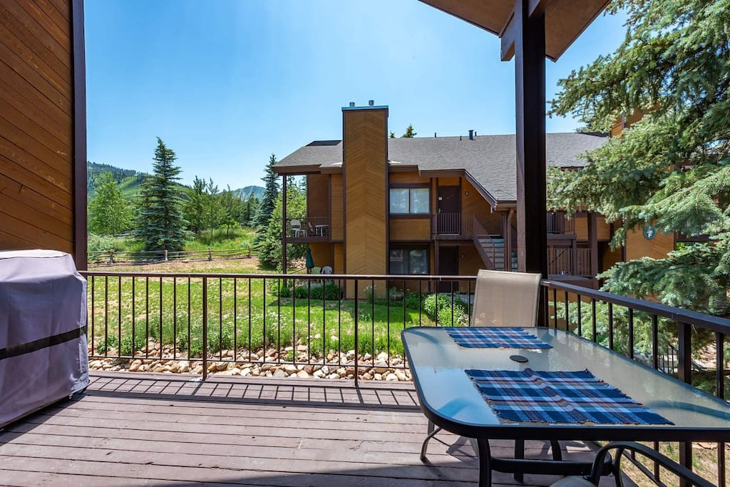 Private Patio w/ Mountain Views / Gas Grill / Table & Chairs