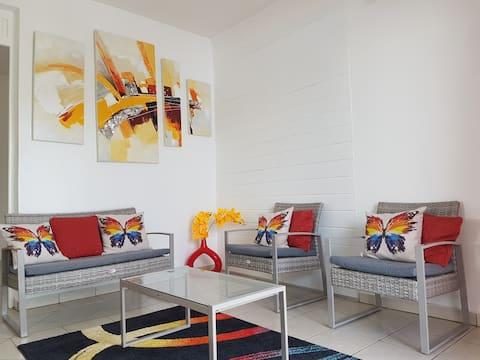 Splendide appartement  à 5 min à pied de la plage