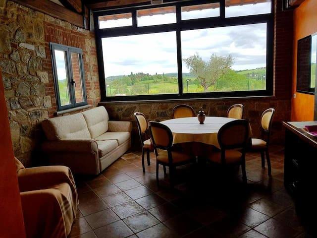 Hall with panorama window