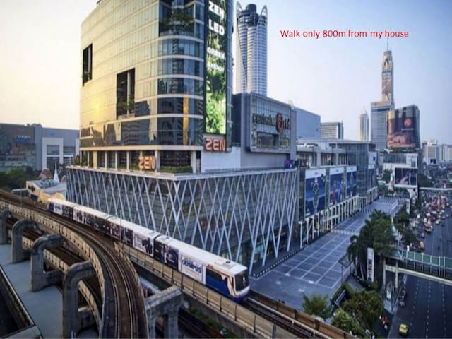 Siam Paragon, Central World, 5 min to Airport Link