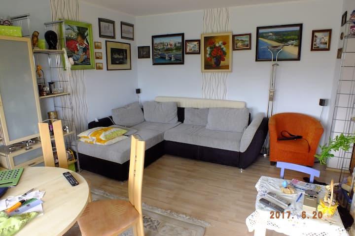 1 Zimmer 22m² mit Balkon für 2 Personen