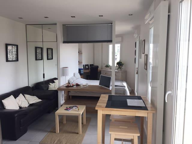 Studio neuf, lumineux, superbe vue - Saint-Étienne - Apartemen