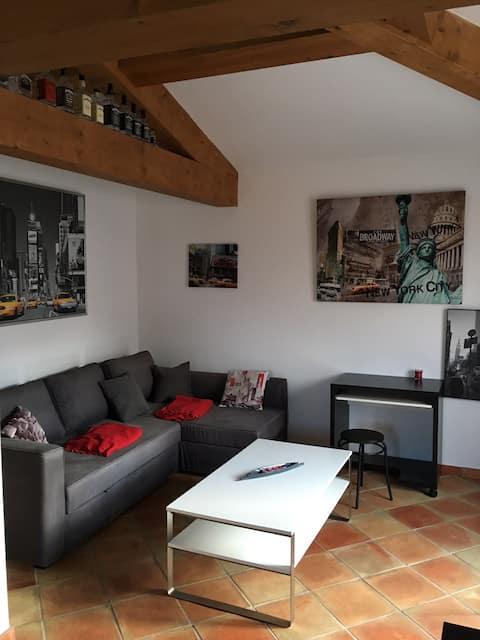 Between Aix en Provence and salon, Provencal village