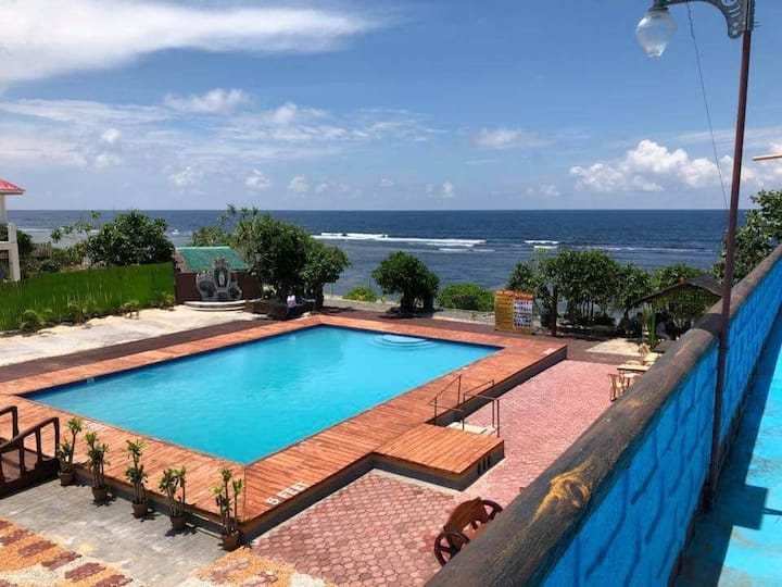 ***PEARL CASA Rm.D Beachfront w/ POOL in Patar