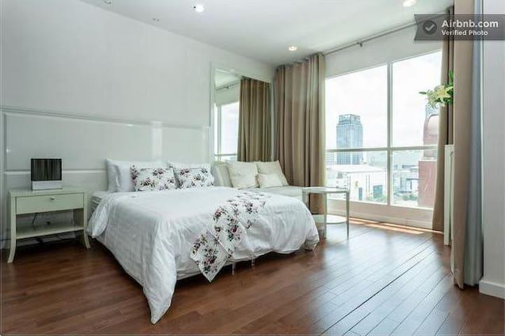 1BR Modern Luxury Condo Near BTS  - Pratumwan - Apartament