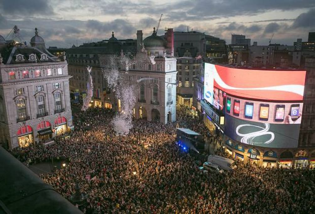 Piccadilly Circus is at the very heart of London