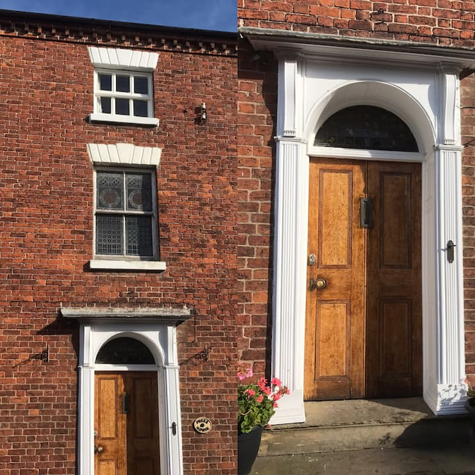 This is our front door. Prees House is a Georgian, 3 storey house.