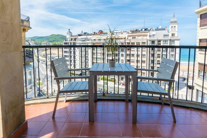 Modern apt with beach view WIFI. - San Sebastian - Lakás