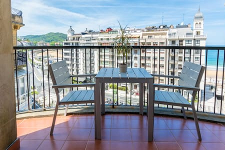 Modern apt with beach view WIFI. - San Sebastian