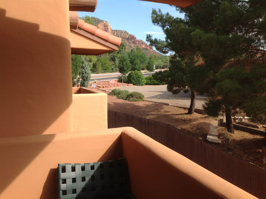 Red Rock Views from Back Private Balcony