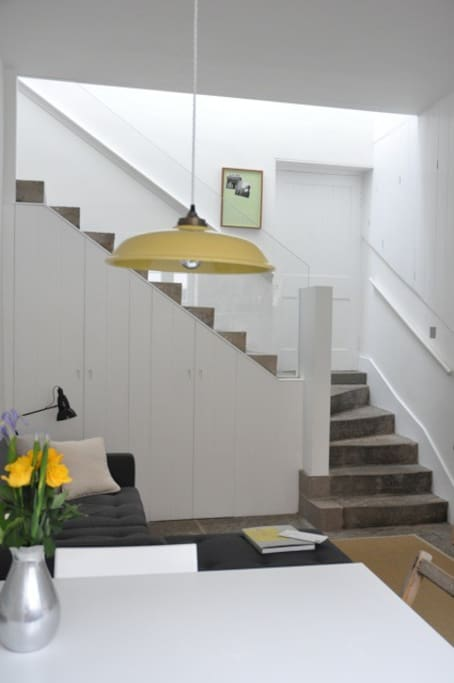 Stone stair to bedroom and bathroom