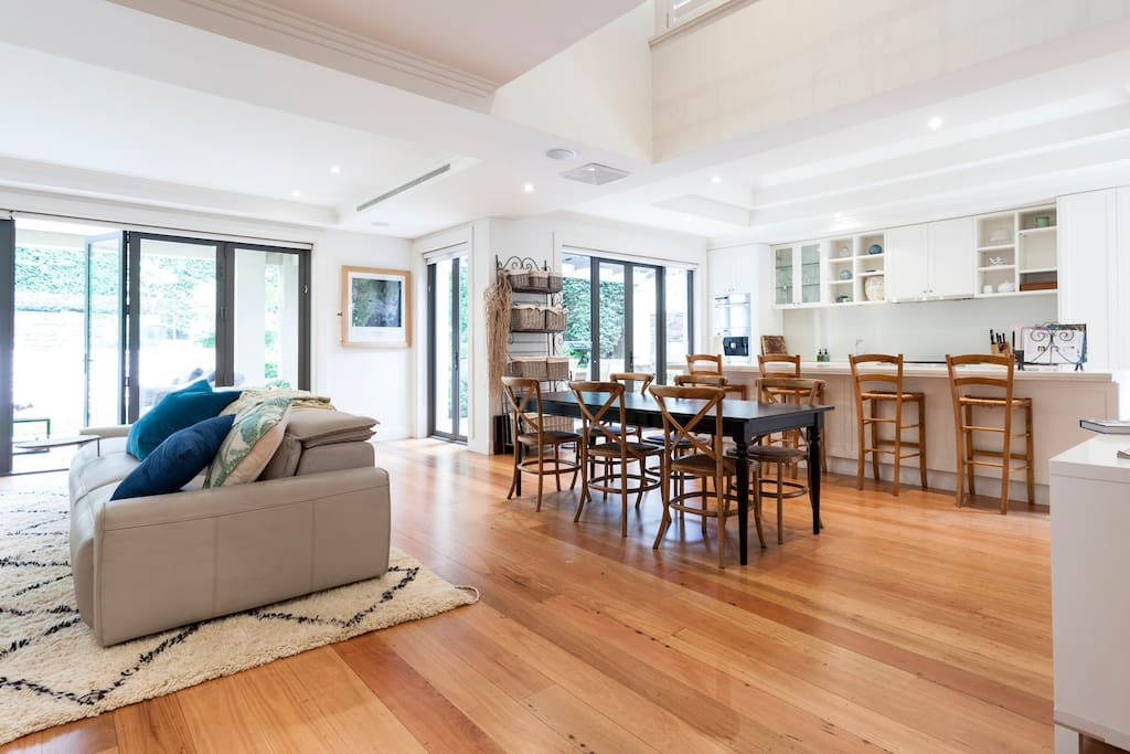 Kitchen, family living space - the hub