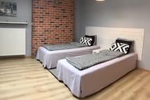 Two single beds (optional setup)