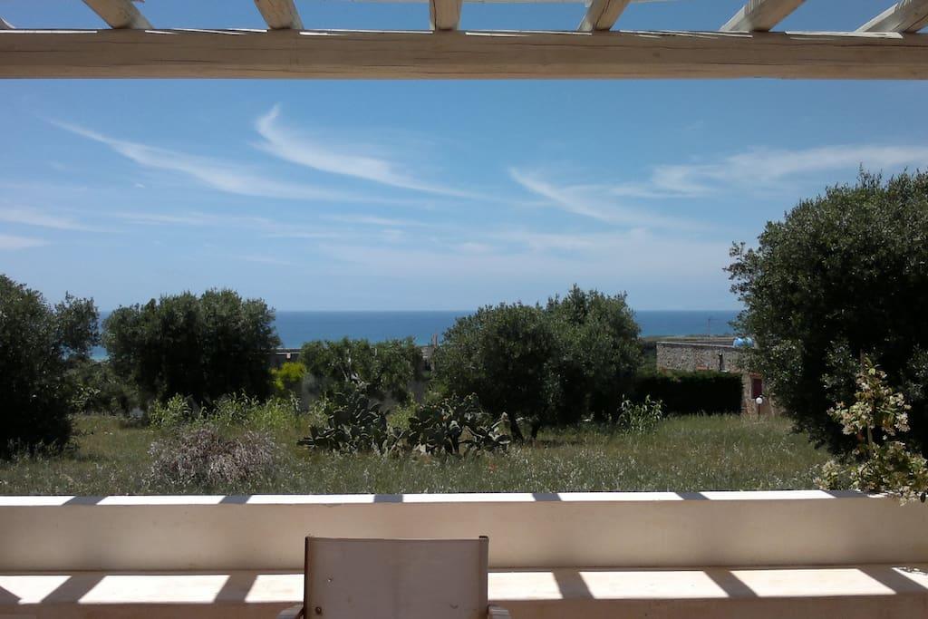 Vista mare di Pescoluse  dalla veranda
