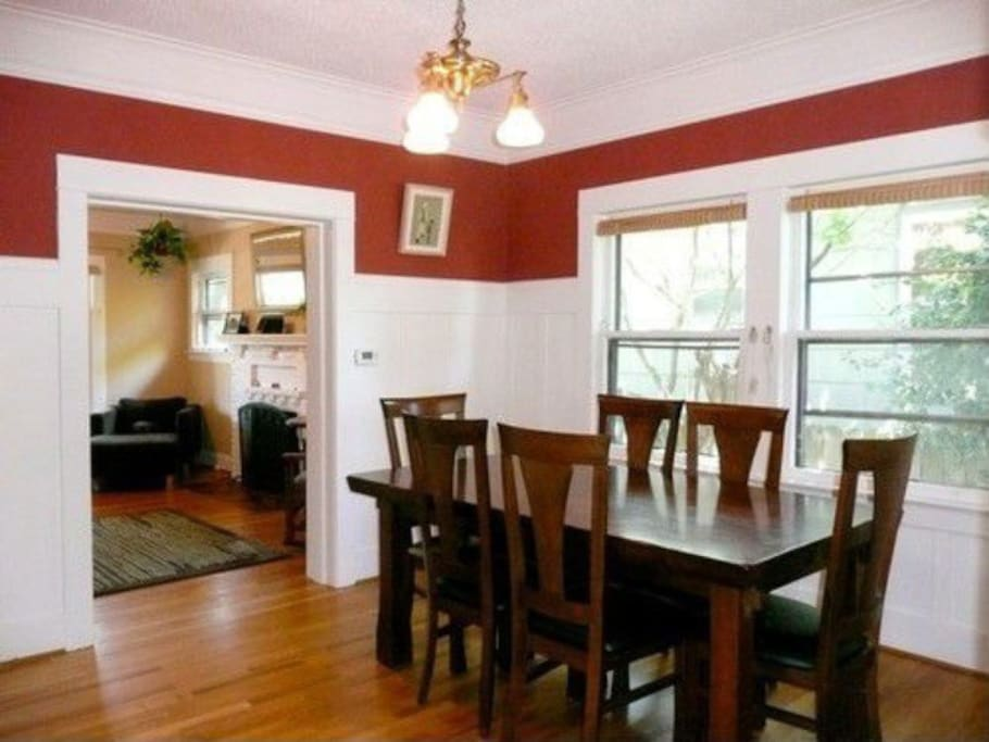 Large dining room with wine bar