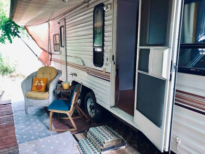 A Cozy Travel Trailer on Private EcoVillage Land