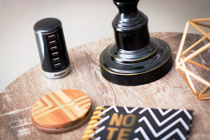 We've made USB chargers available where you're most likely to need them.