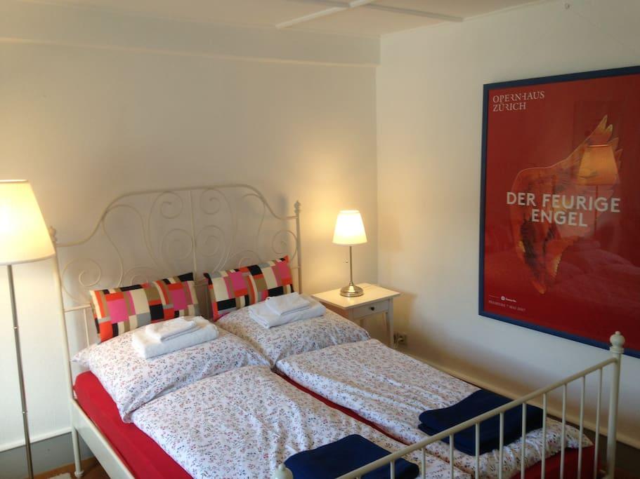Ein Blick auf Zimmer Nr. 1.