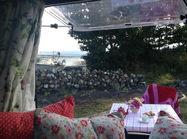 Cosy Vintage Van on Sea Front