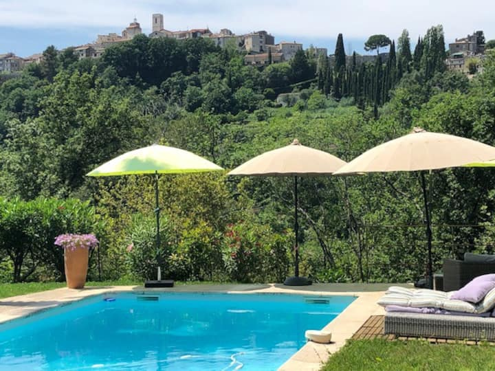 PROVENCAL STYLE HOME WITH POOL ST PAUL DE VENCE