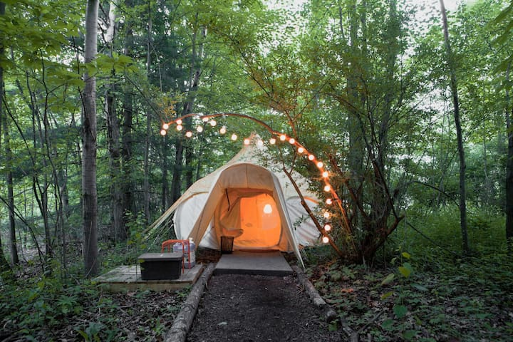 Enchanting & Heated Yurt in the Forest