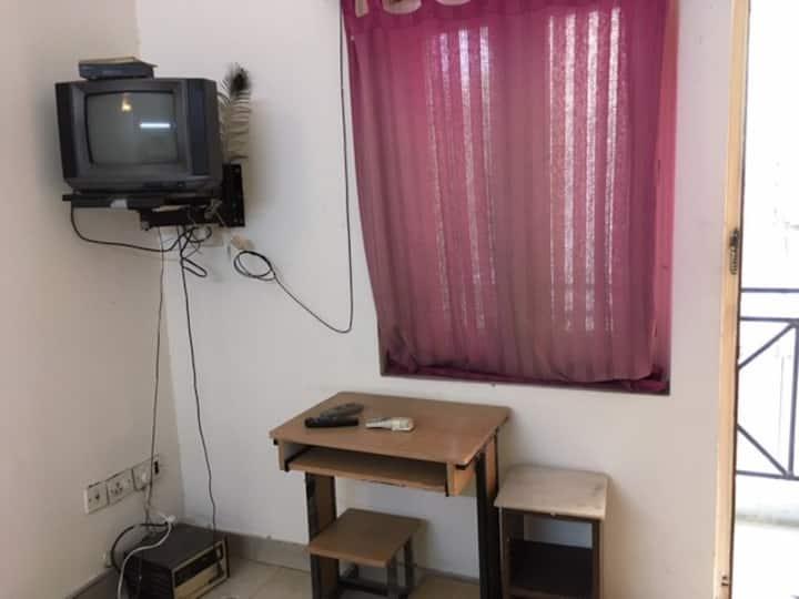 Studio unit with lush green area & calm locality