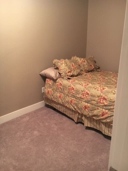 Bedroom 1: Private bedroom with Queen bed.