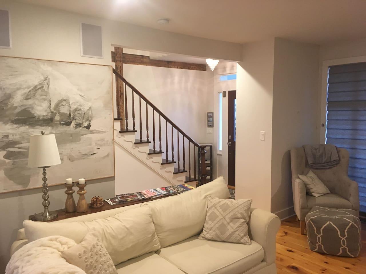 Living Room.  Looking towards front door