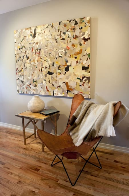 Hang out with art in the living space.