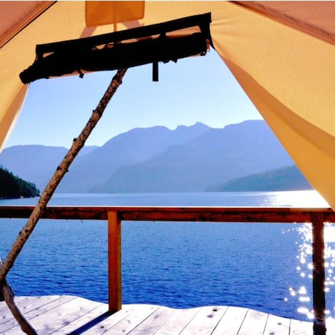 Out There - Off-Grid Private Island, Tent Cabin - Nelson Island