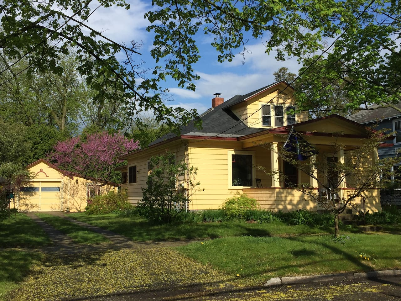 Our home, a 1 1/2-storey Craftsman bungalow built in 1930.