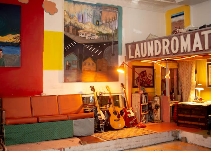 Cozy Storefront Loft (with shag rug)