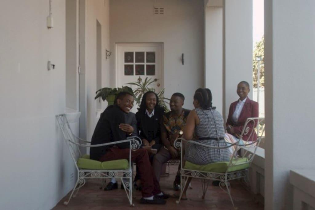 Enjoy conversation and visitors on our veranda