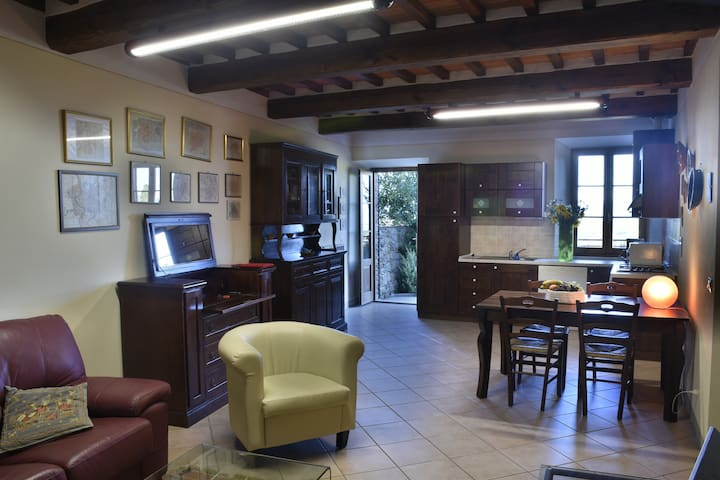 Sunny apartment in the historic center - Lucignano - Apartment