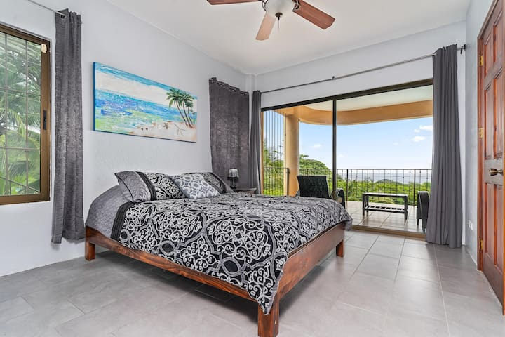 Gorgeous, light-filled bedroom with high thread count linens to make sure you get the sleep you need after a day spent exploring the beautiful beaches!