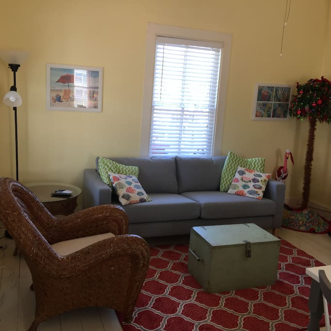 Open living room, with Direct TV