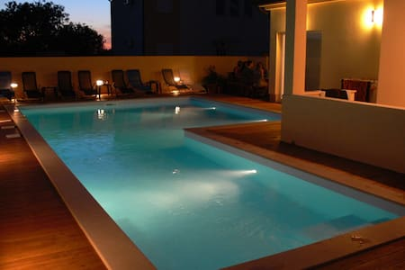 Penthouse apartment with a big pool near Pula
