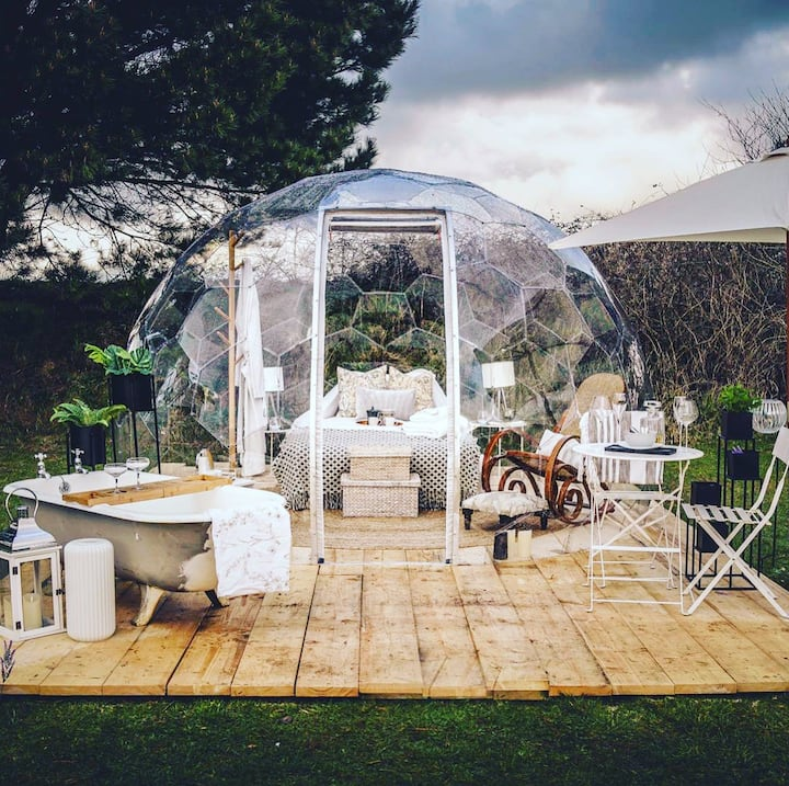 Sleep under the Stars in your very own Luxury Dome