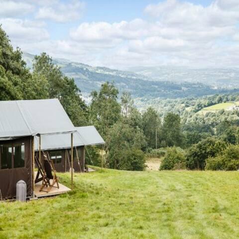 Cwmberach Uchaf Farm - Canvas Lodge
