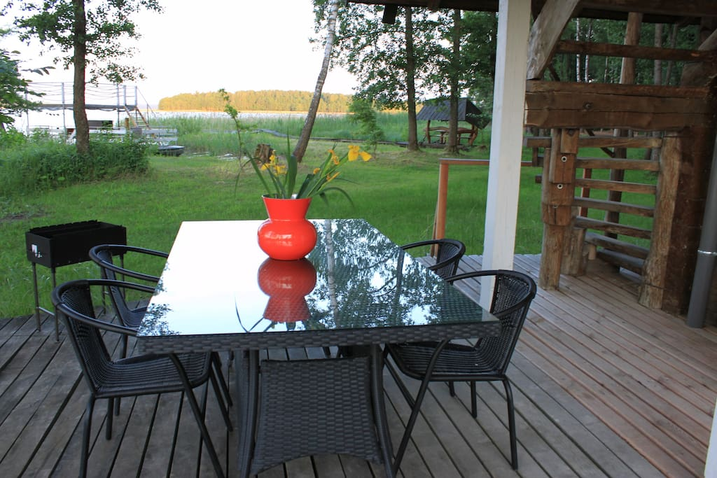 Downstairs dining terrace