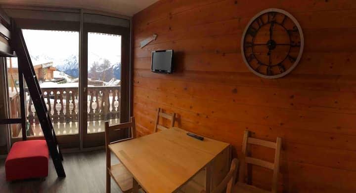 Studio cœur de station, skis aux pieds Alpe d'Huez
